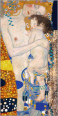 Akrylglastavla  Mother with child - Gustav Klimt