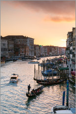 Självhäftande poster Sunset over the Grand Canal in Venice, Italy