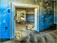 Galleritryck  Sand in the premises of an abandoned house - Robert Postma