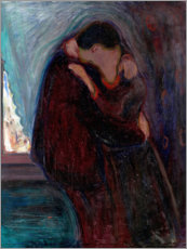 Canvastavla  The Kiss - Edvard Munch