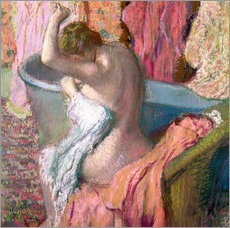 Självhäftande poster  Seated Bather - Edgar Degas