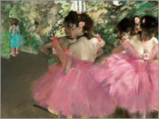 Galleritryck  Dancers in Pink - Edgar Degas