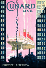 Poster  Cunard Line - Kenneth Shoesmith