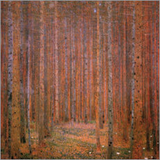 Canvastavla  Fir forest I - Gustav Klimt