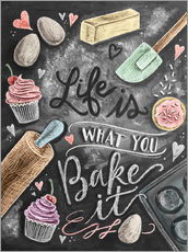 Självhäftande poster  Life is what you bake it - Lily & Val