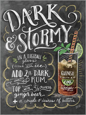 Galleritryck  Dark & Stormy Cocktail - Lily & Val