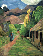 Aluminiumtavla  Road into the mountains - Paul Gauguin