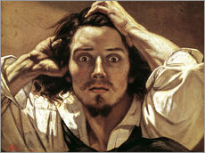 Självhäftande poster  The Desperate Man - Gustave Courbet