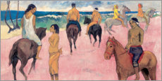 PVC-tavla  Rider on Beach - Paul Gauguin