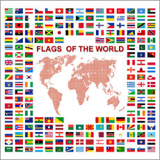 Galleritryck  Flags of the world