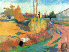 Premiumposter  Landscape near Arles - Paul Gauguin