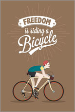 Galleritryck  Freedom is riding a bicycle - Typobox