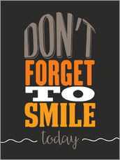 Självhäftande poster  Don't forget to smile today - Typobox