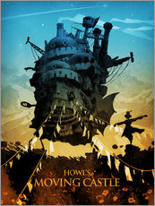 Galleritryck  Howl's Moving Castle (Det levande slottet) - Albert Cagnef