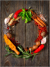 Galleritryck  wreath of spices and herbs