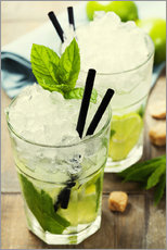 Galleritryck  Mojito cocktail with ingredients