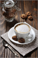 Galleritryck  Cup of coffee with cookies