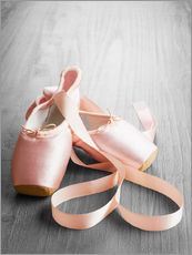 Galleritryck  pink ballet shoes