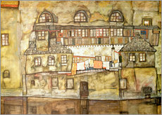 Galleritryck  house wall on the river - Egon Schiele
