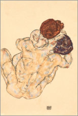 Trätavla  Man and Woman, Embrace - Egon Schiele