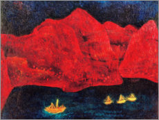 Galleritryck  South coast in the evening - Paul Klee