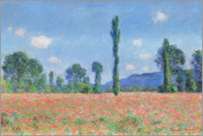 Akrylglastavla  Poppy field - Claude Monet