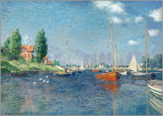 Galleritryck  Red boats at Argenteuil - Claude Monet