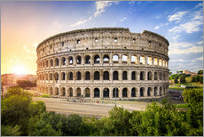 Galleritryck  Colosseum at sunset in Rome, Italy - Jan Christopher Becke