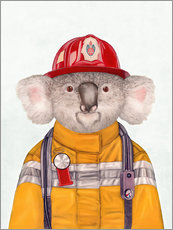 Galleritryck  Koala Firefighter - Animal Crew