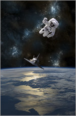 Galleritryck  At astronaut drifting in space - Marc Ward