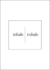 Galleritryck  Inhale | Exhale - Stephanie Wünsche