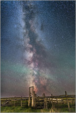 Galleritryck  Milky Way over an old ranch corral. - Alan Dyer