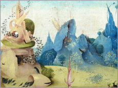 Galleritryck  Garden of Earthly Delights, paradise (detail) - Hieronymus Bosch