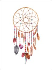 Självhäftande poster  Dream catcher - Nory Glory Prints