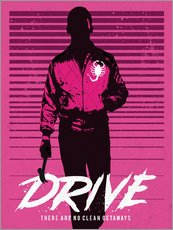 Galleritryck  Drive Ryan Gosling movie inspired art print - Golden Planet Prints