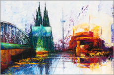 Galleritryck  Cologne Cathedral Skyline - Renate Berghaus