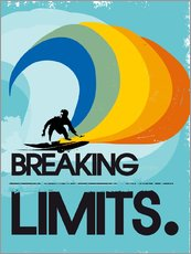 Självhäftande poster  Surfer, Breaking limits - 2ToastDesign