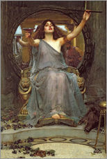 Självhäftande poster  Circe Offering the Cup to Ulysses - John William Waterhouse