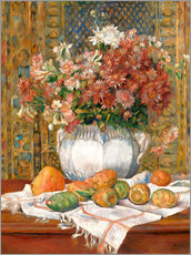 Galleritryck  Still Life with Flowers and Prickly Pears - Pierre-Auguste Renoir