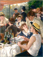 Självhäftande poster  Luncheon of the Boating (Detail) - Pierre-Auguste Renoir
