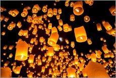 Galleritryck  Sky lanterns in Chiangmai