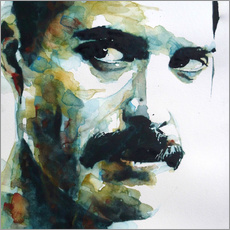 Självhäftande poster  Freddie Mercury - Paul Lovering Arts