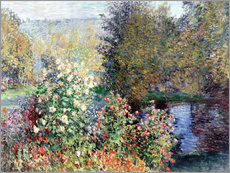 Självhäftande poster  Corner of the Garden at Montgeron - Claude Monet