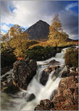 Självhäftande poster  Scotland in Autumn - Buchaille Etive Mor - Martina Cross