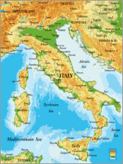 Premiumposter Italy _ Map