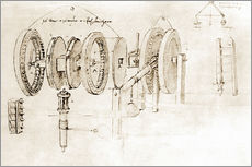 Galleritryck  Mechanical design - Leonardo da Vinci
