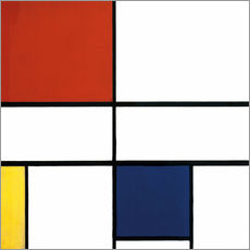 Galleritryck  Composition C (No.III) with Red, Yellow and Blue - Piet Mondriaan