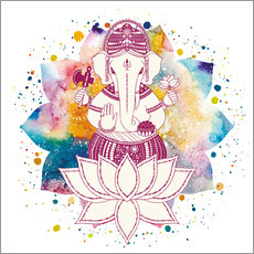 Galleritryck  Ganesha in watercolors