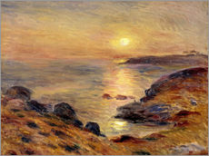 Galleritryck  The Setting of the Sun at Douarnenez - Pierre-Auguste Renoir