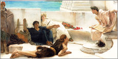 Självhäftande poster  A reading from Homer - Lawrence Alma-Tadema